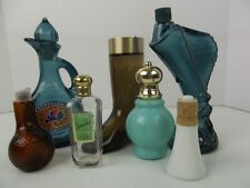 Vtg Avon Decanter Sea Trophy Boot Blue Bottle Persian Pitcher Pipe