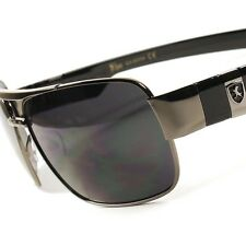 Designer Modern High-End Stylish Fashion Mens Womens Rectangle Metal Sunglasses