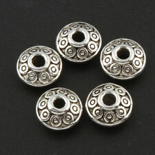 90 Metallperlen Spacer Silber 8mm Schmuck Perlen Spacer Doppelkegel MODE F124#3