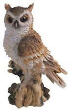 12.25 Inch Owl Nature Wildlife Animal Statue Collectible Wild Bird Figure Brown