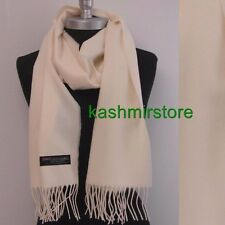 New SOLID 100%CASHMERE SCARF High Quality MADE IN SCOTLAND SOFT unisex US Seller