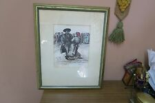 G. Wasser Marriage Dance 1970's Lithograph, signed an Numbered Jewish Print