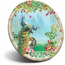 Awesome Fridge Magnet - 3D Flowery Peacock Illustration Cool Gift #21058