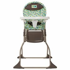 Baby High Chair in Elephant Squares Cosco Simple Fold Infant Toddler Child