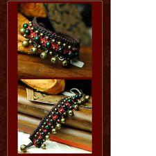 Women's Braided Jade Thread Tinkle Bell Bangle Bracelet Charm Jewellery Gift UK