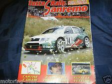 San REMO RALLY 2003 Programma guida Firmato Autografato Marcus GRONHOLM ITALIANA di Rally