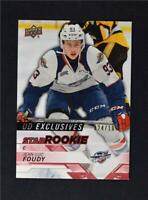 2018-19 UD Upper Deck CHL Star Rookies Exclusives #333 Jean-Luc Foudy /100