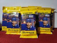 2020-21 Upper Deck Hockey Series 2 Fat Packs Young Guns ( Lot Of 8 PACKS )