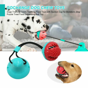 Dogs Rope Toys Training Treats Teething with Suction Cup for Dogs