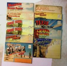 Vintage SOUVENIR FOLDER POSTCARD PACKETS Intact with Good Color lot of 11 SALE