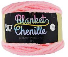 Chenille Blanket Yarn 100g 80m Solid Baby Pink