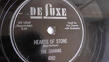 The Charms - 78rpm single 10-inch – De-Luxe #6062 Hearts Of Stone & Who Knows