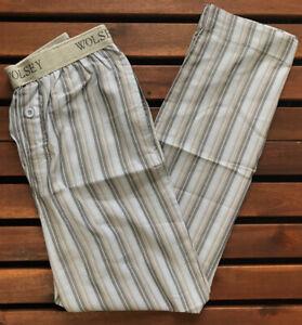 Wolsey Men's Cotton Striped Pyjama Pant - Blue - Large - US37-BLU