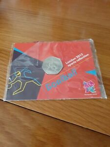 London 2012 Olympic GOALBALL 2011 50p Pence BU Coin In Official Sealed Card