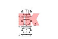 Bremsbelagsatz Scheibenbremse - NK 222563