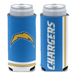 New 2-Sided Los Angeles Chargers Football League Licensed Slim Can Cooler- 1PC