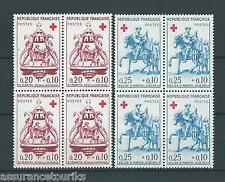 CROIX ROUGE - 1960 YT 1278 à 1279 blocs de 4 - TIMBRES NEUFS** LUXE