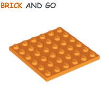 NEUF NEW bleu bright blue 2 x LEGO 3958 Plaque Plate 6x6