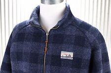 NEW Patagonia Reclaimed Wool Jacket Mens L large full zip plaid coat 50340 RARE!
