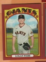 2021 Topps Heritage - Red Border SP - #480 Logan Webb - San Francisco Giants