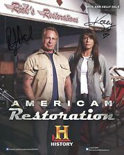 RICK+KELLY DALE HAND SIGNED 8x10 COLOR PHOTO+COA        AMERICAN RESTORATION