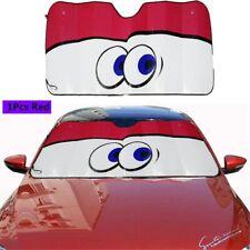 Cartoon Red Big Eyes Car Front Windshield Window Sun Shade Visor Cover Protector