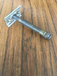 VINTAGE PAL SAFETY RAZOR Used Condition Brass ? Handle