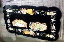 Exclusive Sea Shells Marble Dining Table Top Pietradura Hallway Inlay Decor M221