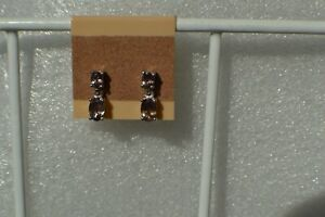 1.50ct Color Change Garnet Solitaire Earrings Platinum over Fine Silver