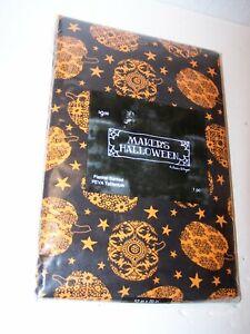 "NIP 52"" X 70"" Maker's Halloween Susan Winget Flannel Backed PEVA Tablecloth"