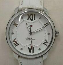 Reloj TOMMY HILFIGER para mujer. Correa piel blanca, 35 mm.