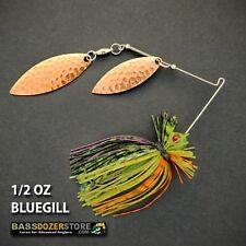 Bassdozer spinnerbaits FINESSE COPPER 1/2 oz H. BLUEGILL spinner bait bass lures