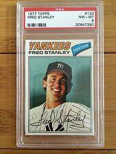 1977 Topps Fred Stanley #123 Baseball Card PSA 8 NM-MT