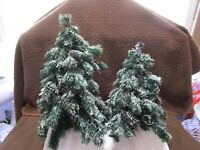 Dept 56 Village Green Spruce Trees / 2 Trees / New No Box