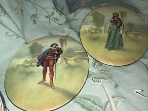 Rare Royal Doulton Romeo & Juliet Wall Plaques 1930s