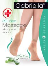 Gabriella Medica Massage Ankle Socks High-Knee Aloe Vera extract 20 40 Denier