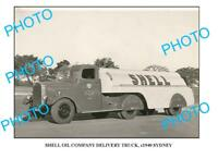 OLD LARGE PHOTO OF SHELL OIL Co TRUCK c1940 SYDNEY 1