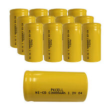 NEW 12 pack C Size 3000mAh 1.2V Ni-Cd Rechargeable Batteries Flat Top PKCELL