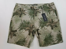 new Slate & Stone men shorts Ross Novelty 38 khaki trees MSRP $148