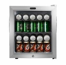 Whynter Beverage Refrigerator With Lock ? Stainless Steel 62 Can Capacity, New