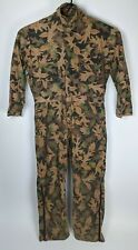 Vintage Kelly Kamo Tru-Leaf Hunting Coveralls Men's Large Tall USA Made Camo