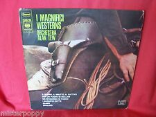 ALAN TEW ORCHESTRA I magnifici Western 1970 ITALY EX Morricone Tiomkin OSTs