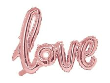 XXL Folienballon LOVE rose gold Hochzeitsdeko Ballon Folie Luftballons Rose rosa