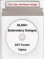 36,000+ DST Tajima Machine Embroidery Designs & Full Colour Catalogue NEW