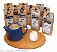BLUE FOR LIFE 2 CUP LOOSE LEAF TEAPOT, TRAY & CREAMER - ADD A PACK OF SUKI TEA