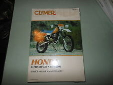NEW Clymer Service Manual Book HONDA XL/XR 500-650 79-02  # 339-6