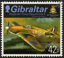 RAF Hawker HURRICANE (87 Squadron) Aircraft Stamp (2013 Gibraltar)
