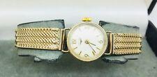 Vintage 1965 Longines Solid 9 Carat Gold Ladies Bracelet Wristwatch