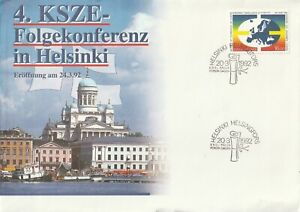 1992 Finland FDC cover European conference on security and co-operation