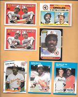 1988 Topps #4 Eddie Murray Error & 6 Eddie Murray Baseball Baltimore Orioles